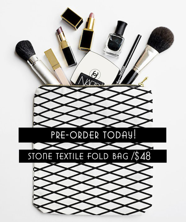 The Stone Textile Fold Bag /  Pre-Order