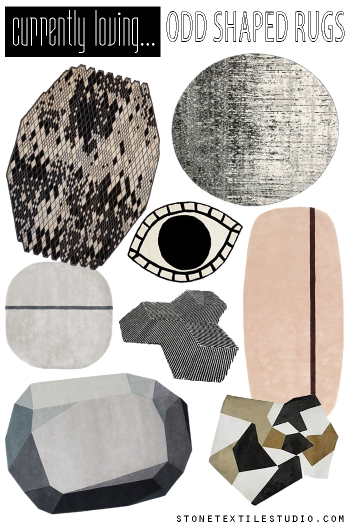 Currently Loving / Odd Shaped Rugs
