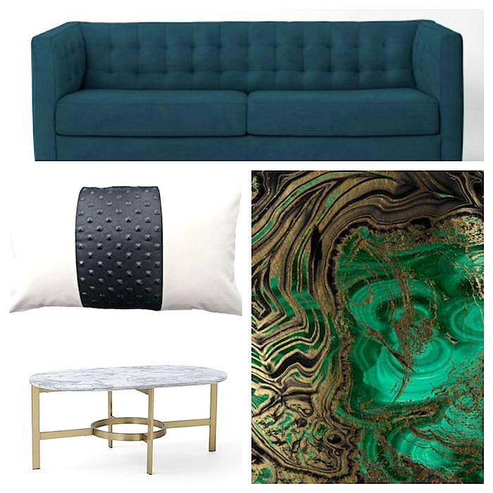 Interiors By Stone Textile / Design Board:  Jewel Tone Guest Room