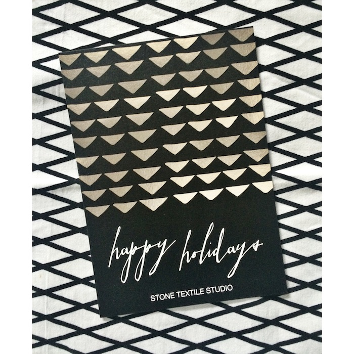 Stone Textile_Holiday Card