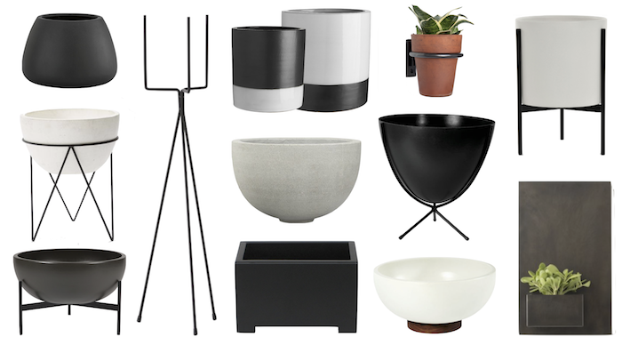 Get The Look /  Modern Planters