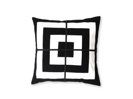 B + W Square Layers Pillow