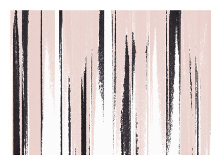 Brushstrokes Black + Blush