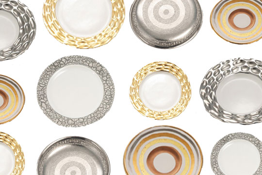 This dinnerware by Michael Wainwright is in stores now. I love how he incorporates texture into his designs. Adding the platinum set to my listu2026  sc 1 st  Stone Textile & Pattern Inspiration | Stone Textile At Home