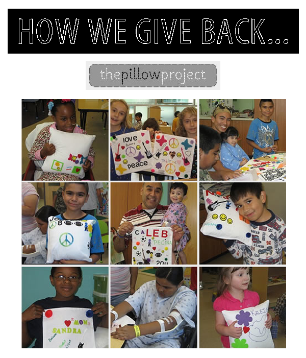 The Pillow Project // How We Give Back