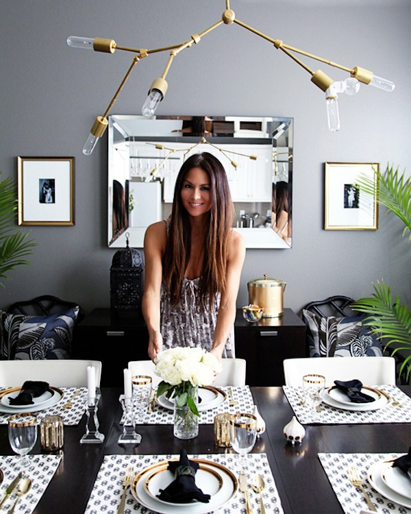 small-shop-for-Adore-Home-by-Sabra-Lattos-dining-room-Erika-Brechtel-Dwell-Studio-Stone-Textile-gold-rimmed-vintage-china-palms-DIY-Lindsey-Adelman