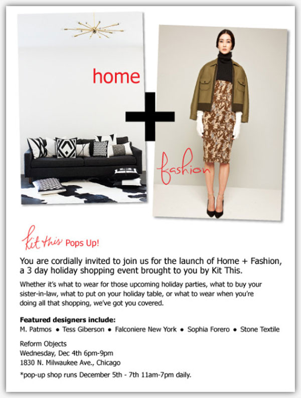 Holiday Pop Up Shops + Trunk Shows