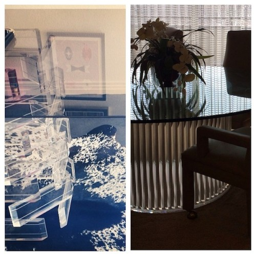 2 Lucite tables