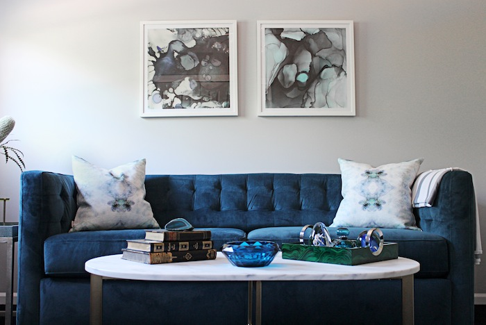 Interiors By Stone Textile Guest Room, West Elm Rochester Sofa