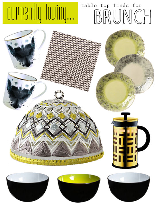 Currently Loving….table top finds for brunch