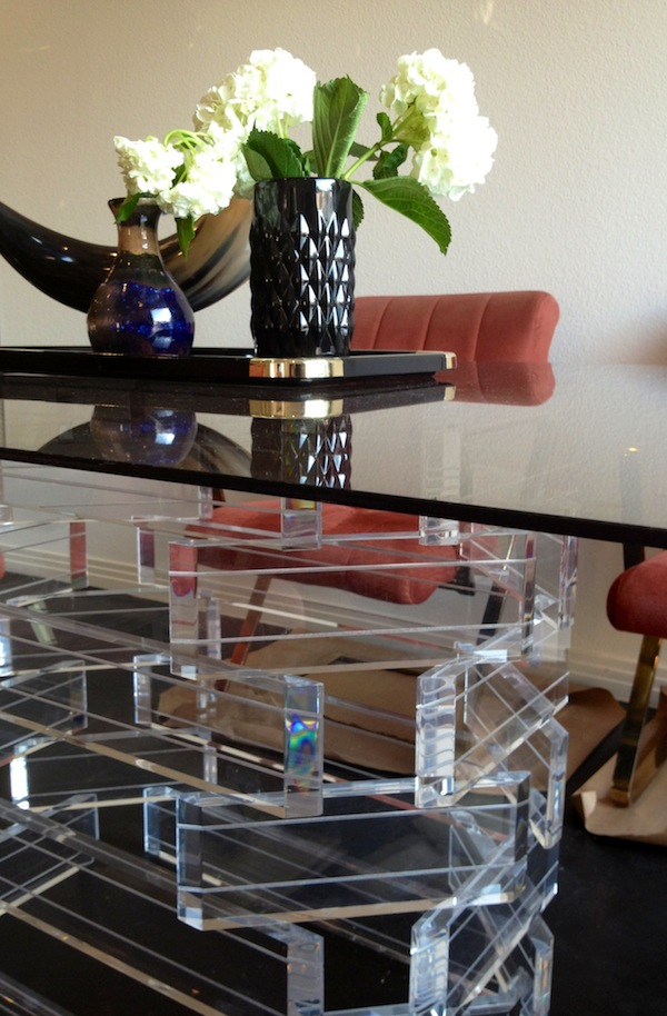 Stone Textile_Lucite Table Base
