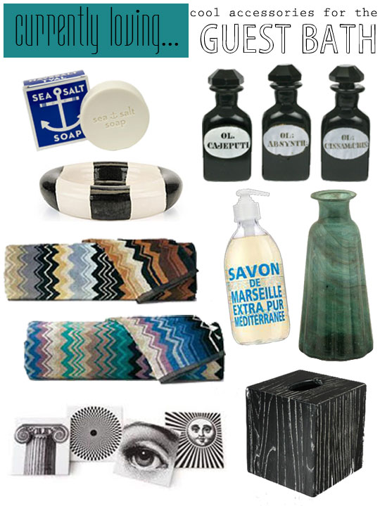 Currently Loving…cool accessories for the guest bath