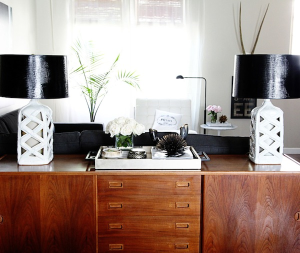 small-shop-for-Adore-Home-by-Sabra-Lattos-living-room-vintage-teak-buffet-white-bamboo-lamps